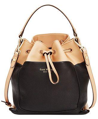Isaac Mizrahi Pebbled Leather Lillian Bucket Bag