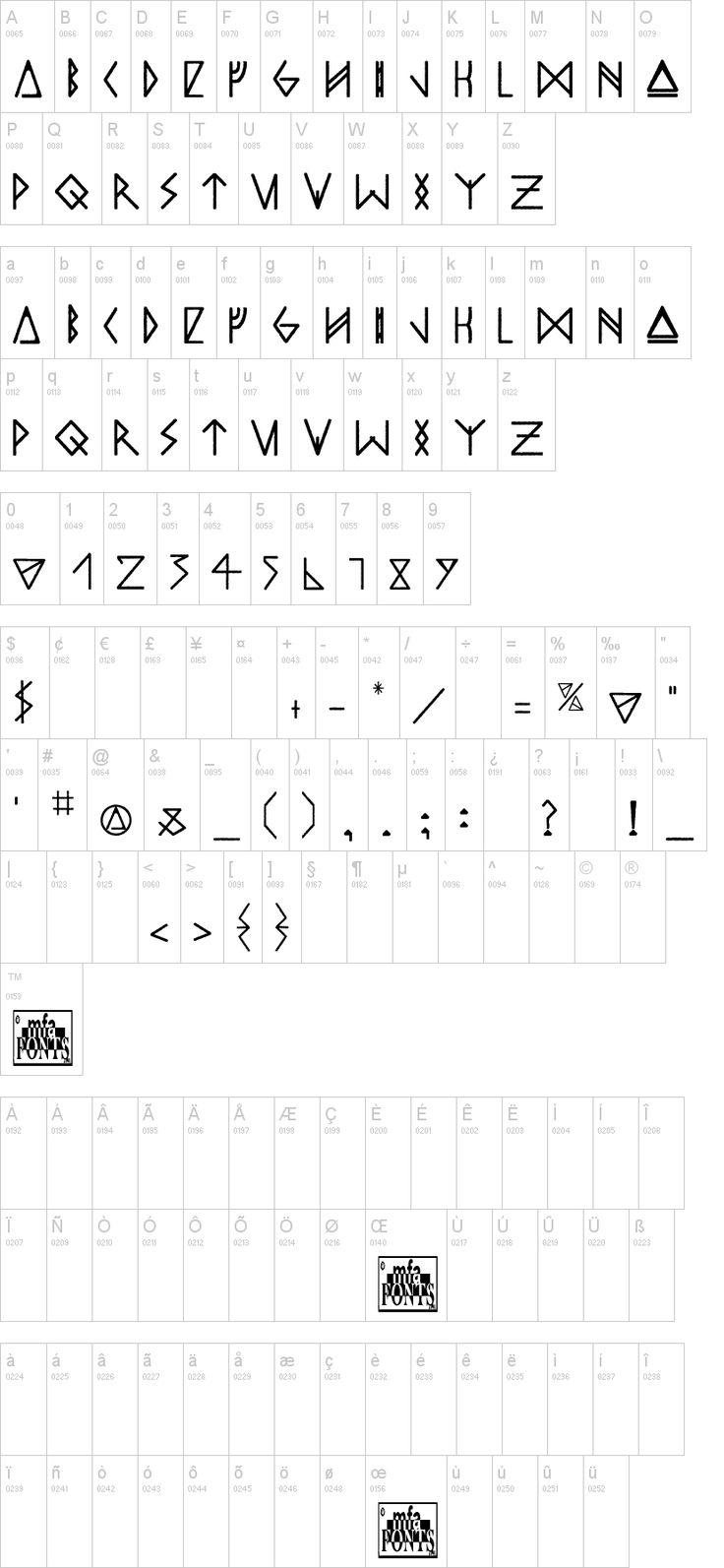 "HTTYD Rune hybrid font ""Odin's Spear"""