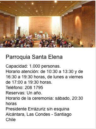 Parroquia Santa Elena Presidente Errázuris esquina Alcántara Las Condes Santiago