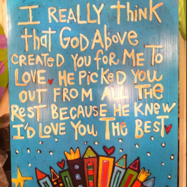 Love paintings with quotes.
