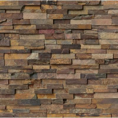 Ms international california gold ledger panel 6 in x 24 in natural slate wall tile 4 sq ft - Flaunt your natural stone wall finishes ...