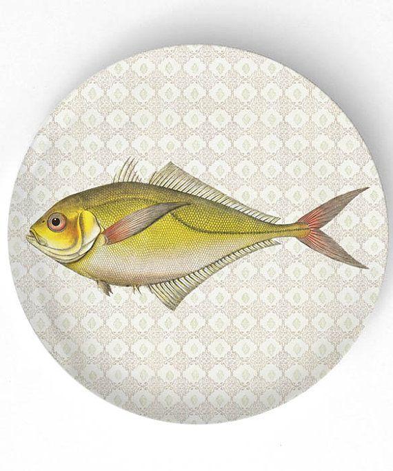 Sea Life Fish IV  1800s fish artwork   10 inch by TheMadPlatters, $18.00