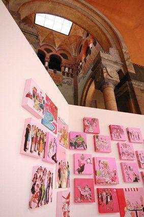 Installazione Favola Rosa Loggia degli Artisti 2007