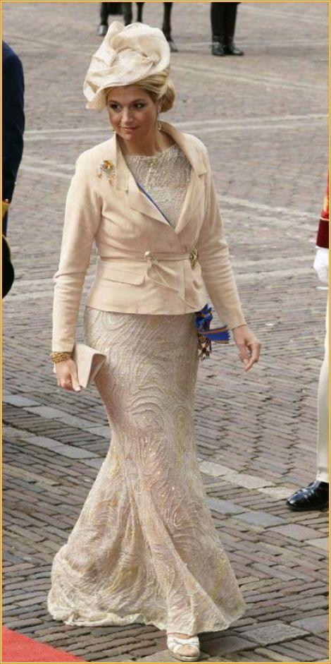 Queen Maxima designer Edouard Vermeulen van Natan. Hat design Fabienne Delvigne