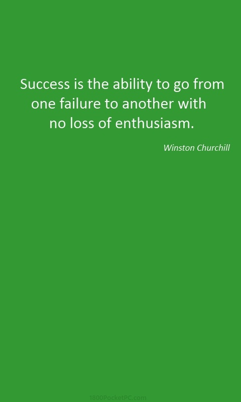 Churchill on success