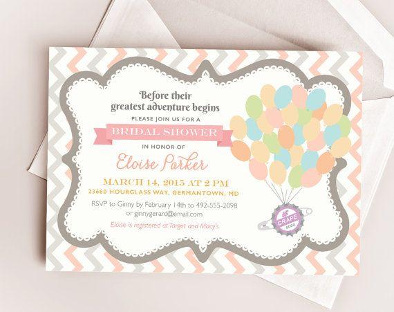 Disney UP Wedding Bridal or Baby Shower Printable by TheInkedLeaf