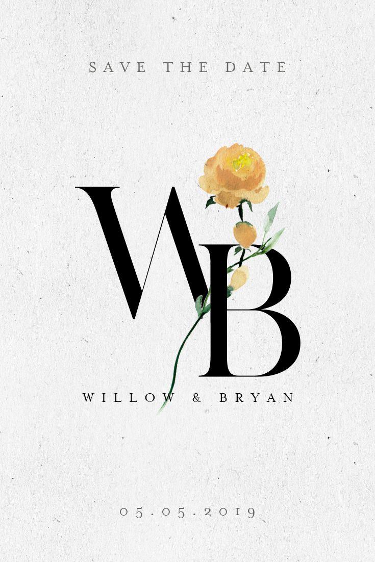 The Yellow Rose in 2019 | Wedding Logo Designs | Wedding ...