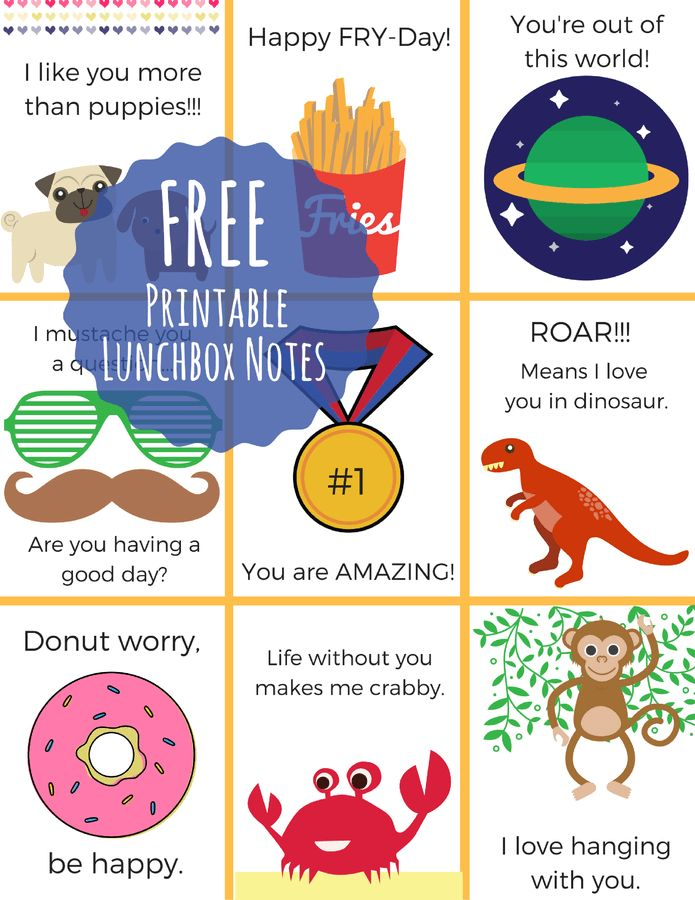 Making lunches made easy! Plus free printable lunch notes!