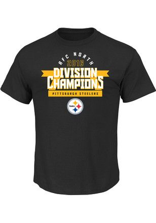 Pitt Steelers Mens Black Division Championship Tee