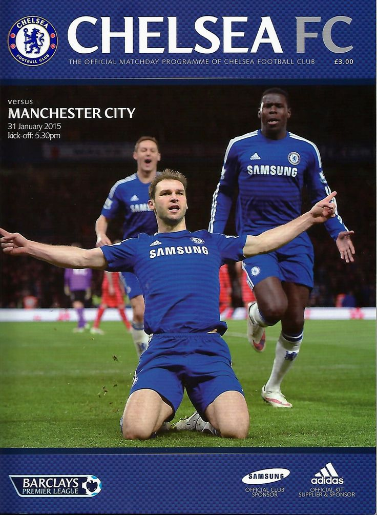 CHELSEA 11 Manchester City Matchday Programme (With