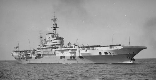 HMS Implacable (R86) in 1947, was an Implacable-class aircraft carrier built for the British Royal Navy during World War II.