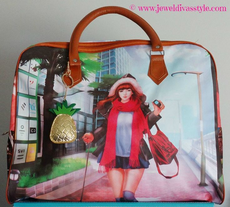 JDS - added to my handbag collection: Girl overnighter bag - more detials on the blog - http://jeweldivasstyle.com/my-brand-new-bags-and-i-see-bag-bling-is-on-the-rise-again/