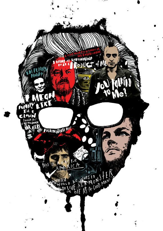 A Special Print created to celebrate the work of the Great director Martin Scorsese. Its available as part of a limited edition of 100 Top
