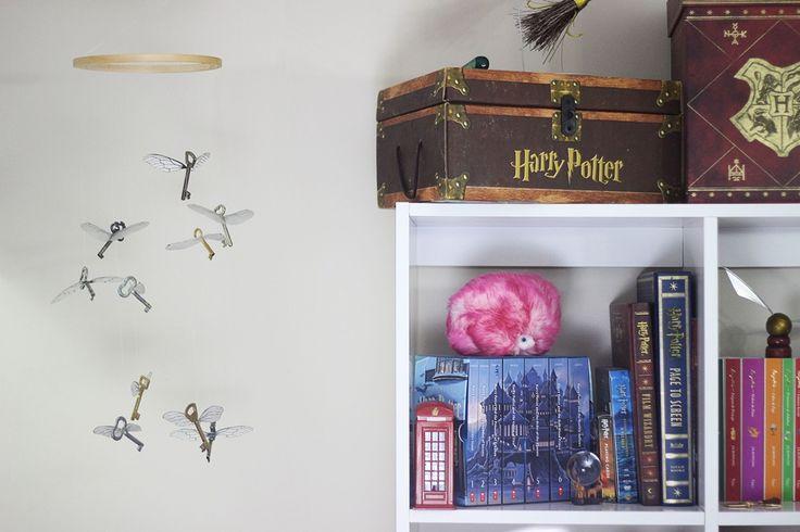 Móbile de Chaves voadoras de Harry Potter e a Pedra Filosofal, DIY Geek, Gabi Grativol