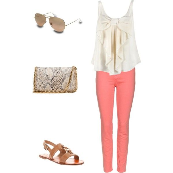 fun summer outfit, created by emily-banks-church on Polyvore