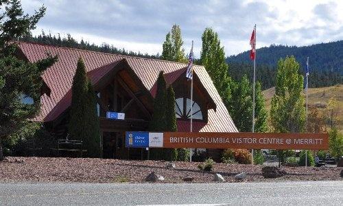 British Columbia Visitor Centre @ Merritt. Beautiful log cabin style building.