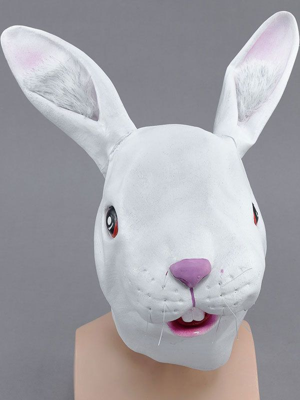 Bunny Nose Animal White Rabbit Fancy Dress Up Halloween Child Costume Accessory