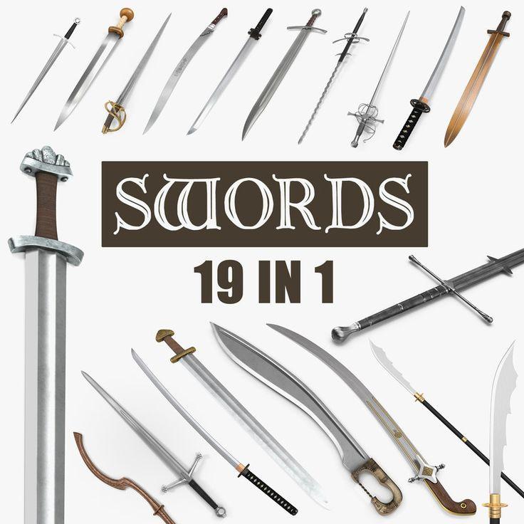 Swords Collection 3D models