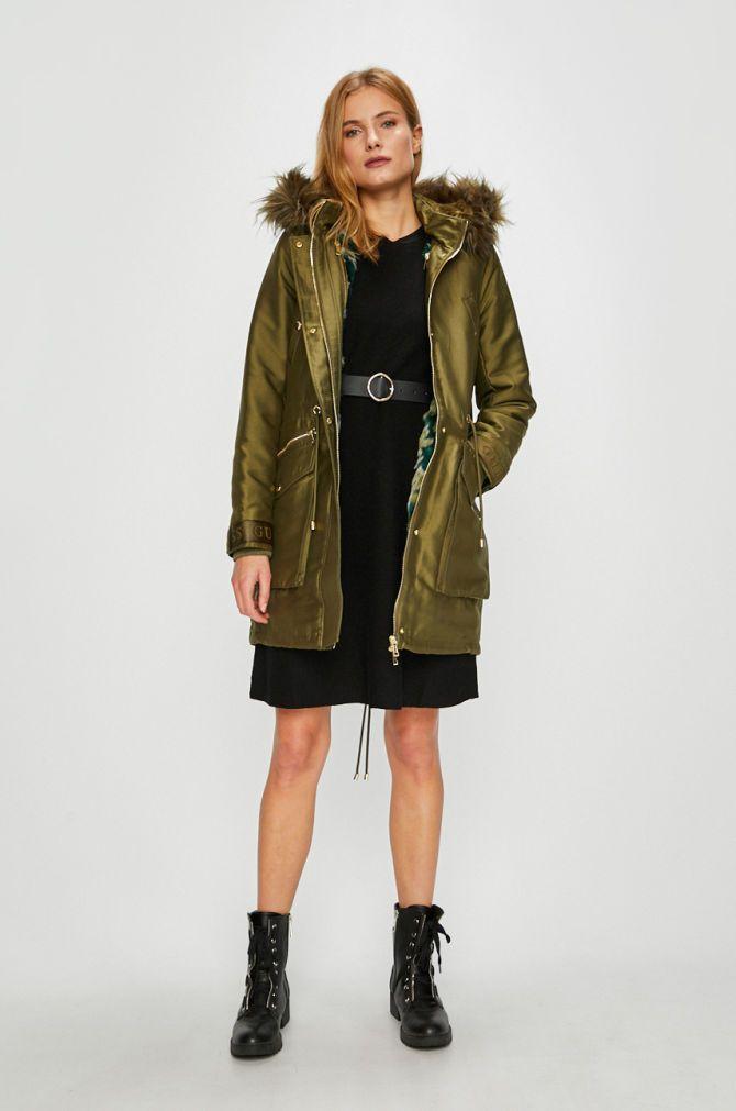 Bundy a kabáty Dlouhé bundy - Guess Jeans - Parka 9e76571e4bb