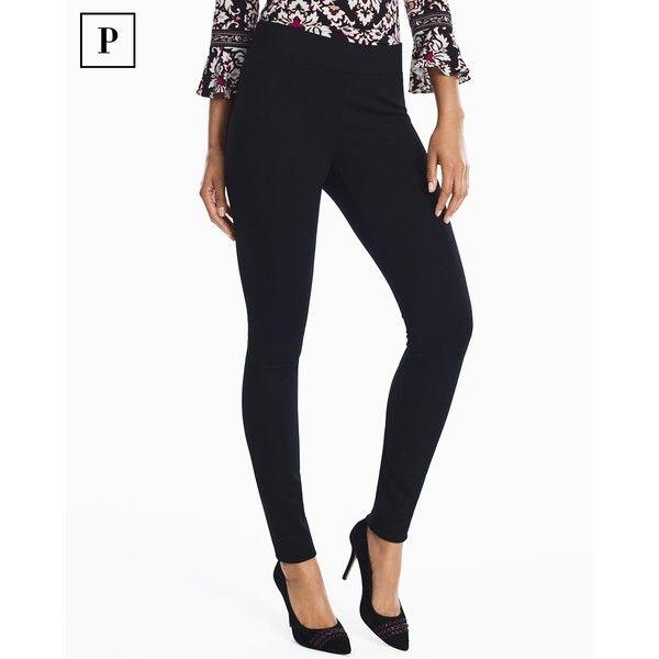 White House Black Market Petite Ponte Leggings ($49) ❤ liked on Polyvore featuring pants, leggings, petite, petite leggings, petite pull on pants, petite pants, petite short pants and white pants