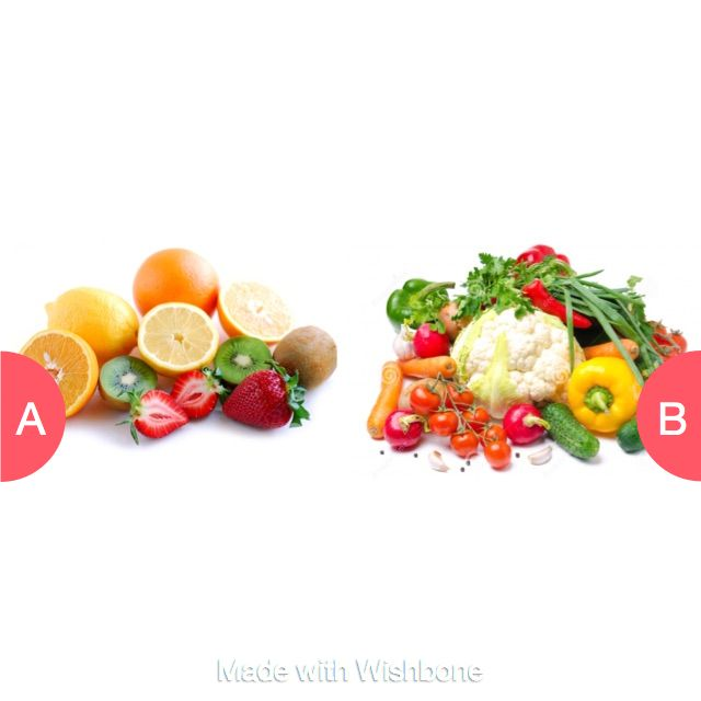 Fruits or Vegetables? Click here to vote @ http://getwishboneapp.com/share/789003