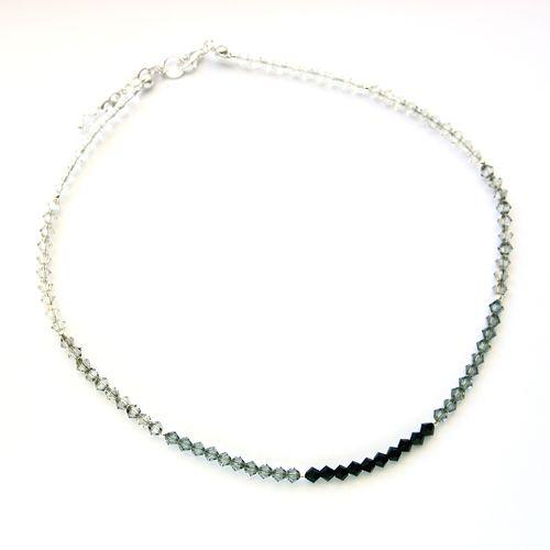 Shades of grey Swarovski crystals.
