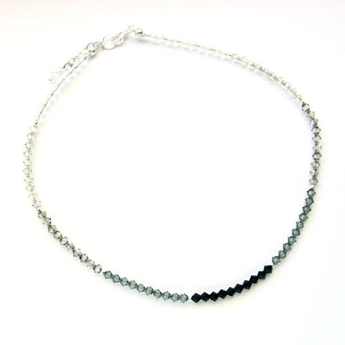 Shades of grey Swarovski crystals.