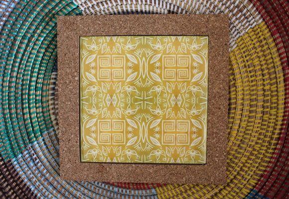 descanso de panela azulejo artesanal arte ceramica tiles handmade decor decoração design interiores casa home pattern