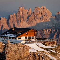 Rifugio Lagazuoi, Cortina, Italy  Had lunch here, don't remember the food as much as the Dolomites!!!
