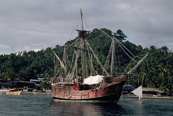 Juan Sebastián Elcano Ferdinand Magellan S Replacement: Modern Day Replica Of Spanish Carrack 'Victoria'. Victoria
