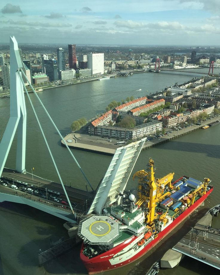 Erasmusbrug, Rotterdam, Zuid-Holland.