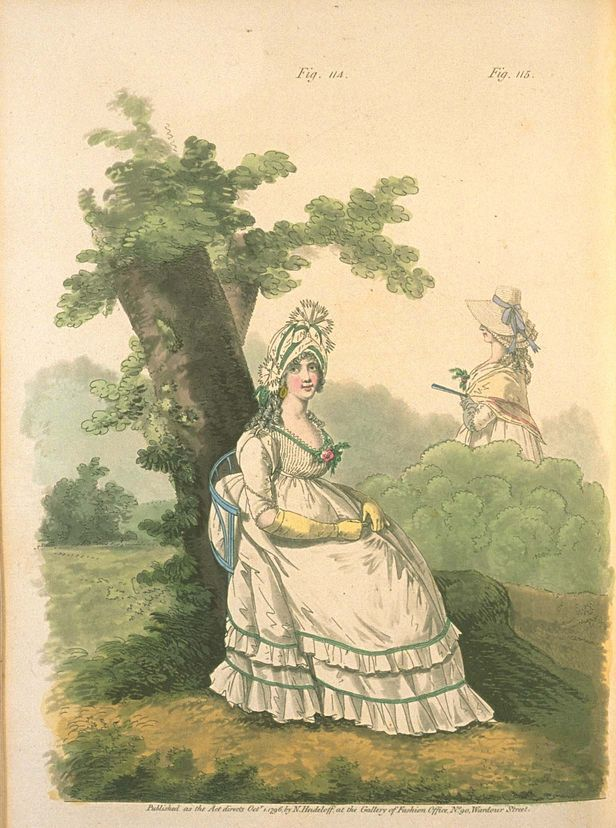 Morning Dresses, October 1796, Gallery of Fashion