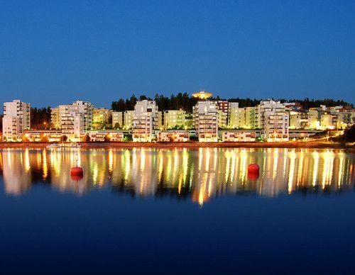 wunderschöne Sicht auf Jyväskylä