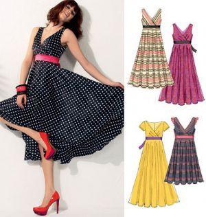 6557 McCalls Schnittmuster Kleid