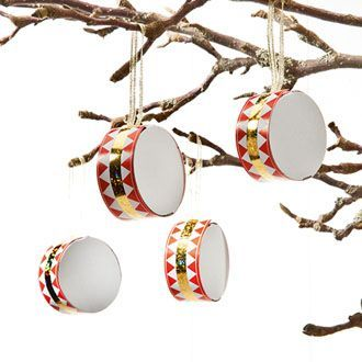 "Drums are traditionally used as decoration on the #Danish #Christmas tree, a drum is mentioned in one of our popular carols ""Højt fra træets grønne top"""