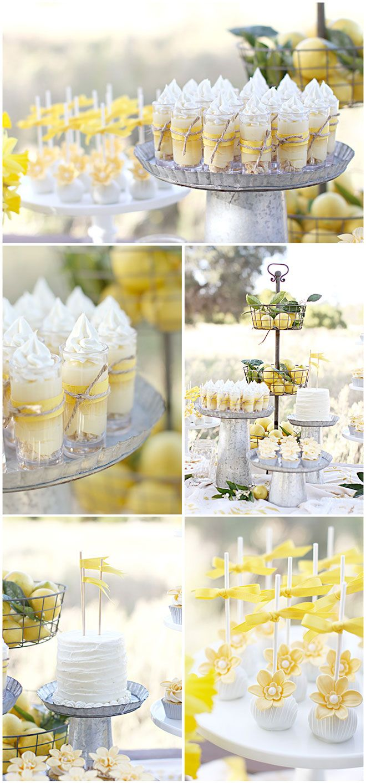 Lemon Dessert Table Feature