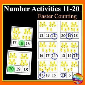Grade / Year Level :: Primary Education :: Foundation - Year 2 :: EASTER Maths Centre Activity Counting Numbers 11-20