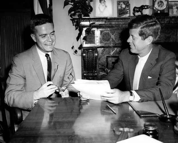 jfk years in office.  years 14 photos of president john f kennedy in his senate office with jfk years