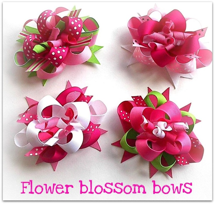 how to make hair flowers | Flower blossom bows 2 « How to make Hair bows w/ Ribbon Spikes