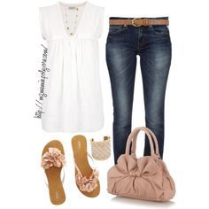 A fashion look from April 2013 featuring Megan Park tops, Replay jeans and The Collection handbags. Browse and shop related looks.