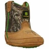 For the cowboy/cowgirl in training! John Deere Mossy Oak Infant Bootie $32.99