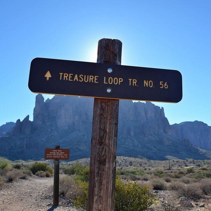 Wandering the Treasure Loop Trail in Lost Dutchman State Park. Will we stumble upon Jacob Waltzs hidden cache? #hiking #visitarizona #exploremesa #optoutside : @gypsetjenn