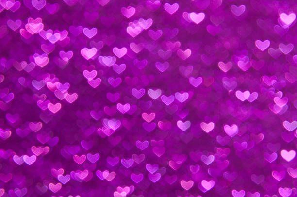 Purple Heart Lights Abstract Background Heart Lights Lights Background Purple Heart