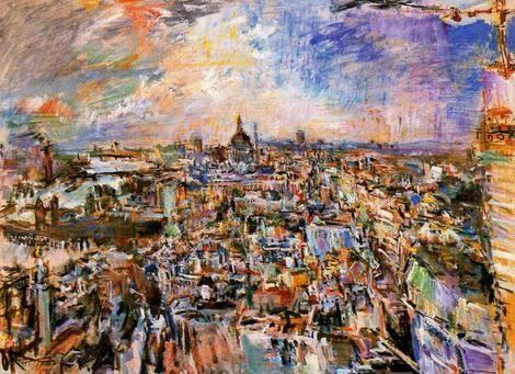 Oskar Kokoschka, View of London, with St. Pauls, 1970 on ArtStack #oskar-kokoschka #art