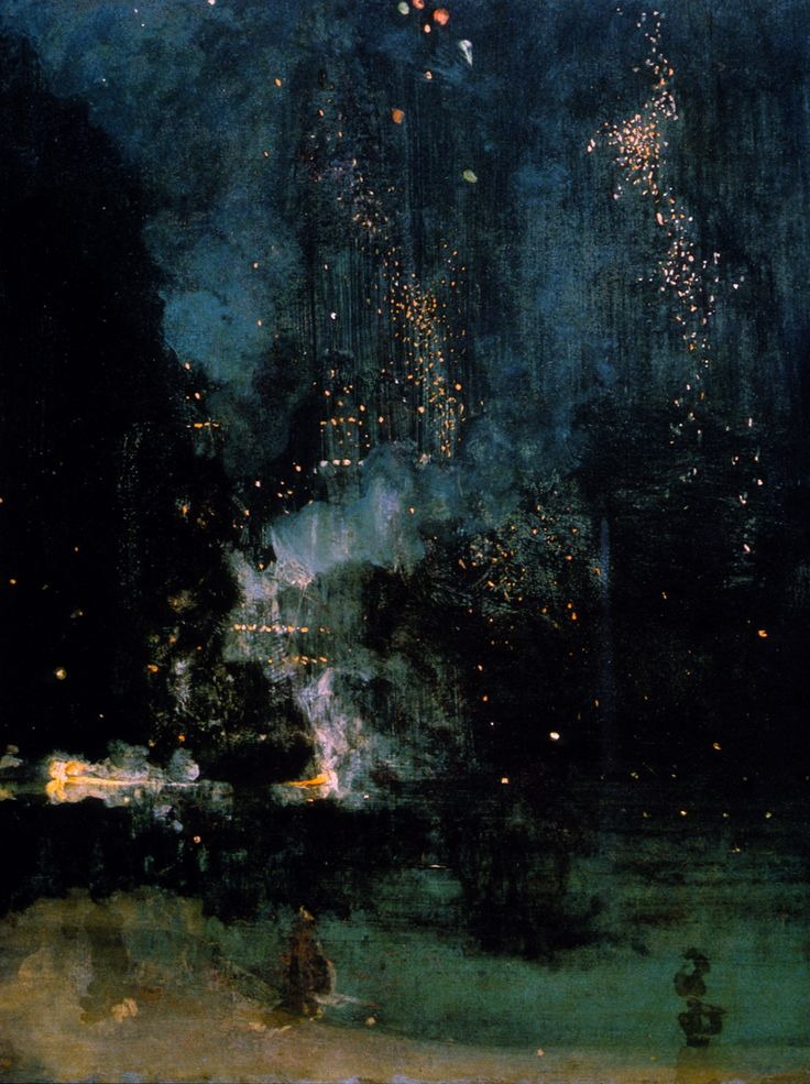 James Abbott McNeill Whistler (1875) - Nocturne in Black and Gold: The Falling Rocket