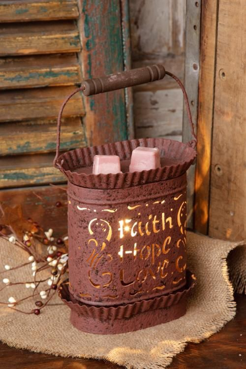 Tart warmer- Faith, Hope, Love