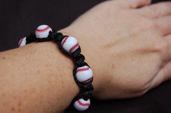 Pulsera de béisbol / moda béisbol mamá / béisbol / chicas / chicos / béisbol / bolsa de regalo / Goody Bag / joyería de los Deportes / Deportes