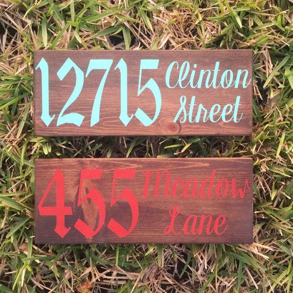 Address Sign // Custom Address Sign // Address Plaque //