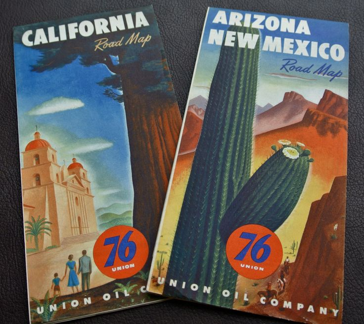 1950s Road Maps, Vintage California Road Map, Vintage Arizona New Mexico Road Map, Gas Station Maps, State Road Maps,  Free Shipping, 2 Maps by DomesticTitanVintage on Etsy
