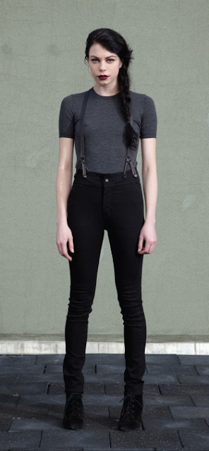 Dem jeans. Courtshop James Jeans with leather suspender detail.
